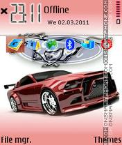 Скриншот темы Mustang V Logo