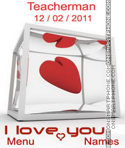 I Love You theme screenshot