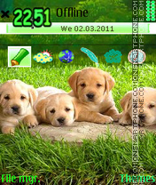 Cute Puppies 02 theme screenshot
