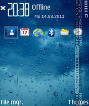 Blue Rain theme screenshot
