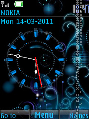 Analog Blue Clock theme screenshot