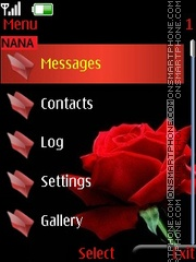 Red Rose Clock tema screenshot