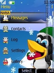 Скриншот темы Crazy Tux Clock