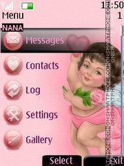 Cutee Angel Clock theme screenshot