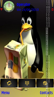 Linux Vs Windows es el tema de pantalla
