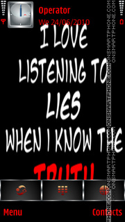 Lies Vs Truth es el tema de pantalla