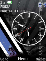 B.B.W.Clock Theme-Screenshot