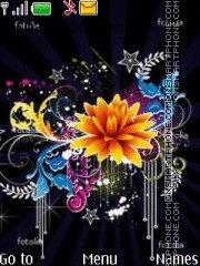 Fantasy flowers es el tema de pantalla