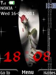 Скриншот темы Rose on the chest