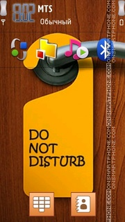 Do Not Disturb es el tema de pantalla