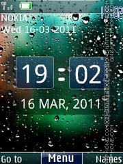 3d Rainy Digital Theme-Screenshot