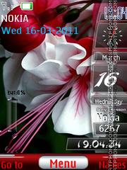 Скриншот темы Flower Sidebar