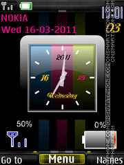 Colors Clock Battery tema screenshot