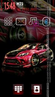Carbon Extreme Car theme screenshot