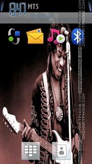 Jimi Hendrix theme screenshot