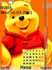 Pooh Calendar tema screenshot