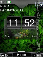 Htc Green Clock 01 tema screenshot