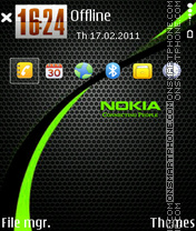 Nokia Green 03 tema screenshot