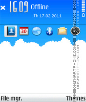 Sky cloud tema screenshot