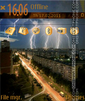 Thunderstorm by doker theme screenshot