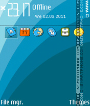 Astro blue 01 theme screenshot