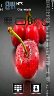 Fresh cherry theme screenshot