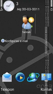 Скриншот темы Grey Android