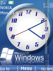 Wind Clock tema screenshot