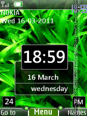 New Design Clock theme screenshot