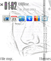 Iphone Eye es el tema de pantalla