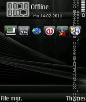 Iphone Black 01 theme screenshot