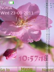 Spring Flowers Clock theme screenshot