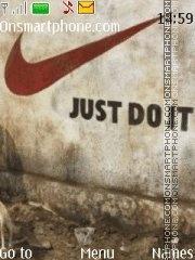 Just Do It es el tema de pantalla