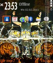 Disturbed Drummer theme screenshot