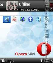 Opera-mini-5 tema screenshot