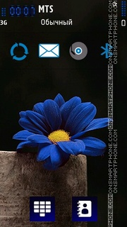 Blue 525 theme screenshot
