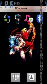 Street Fighter 04 theme screenshot