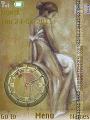 Capture d'écran SWF Clock thème