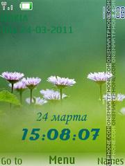 Daisy Clock theme screenshot