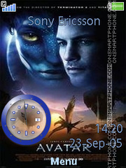 Avatar Clock 01 es el tema de pantalla