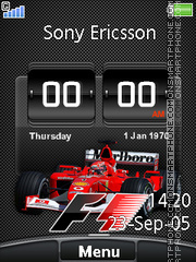 Скриншот темы F1 Digital Clock