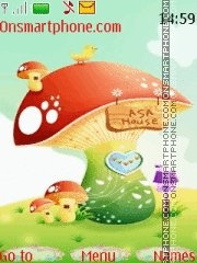 Cartoon Mushrooms tema screenshot