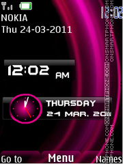New Style Clock theme screenshot