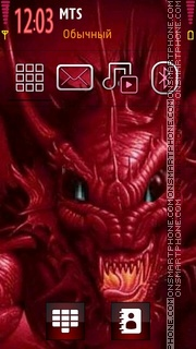 Red Dragon 5801 tema screenshot