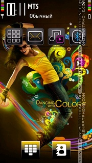 Dancing With Colours tema screenshot