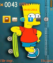 Bart simpsons 01 theme screenshot
