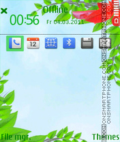Spring Leaves theme screenshot