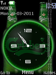 Carlsberg Clock tema screenshot