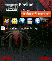 Spiderman 240 yI theme screenshot