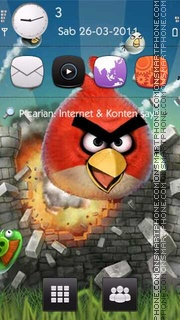 Angry Birds tema screenshot